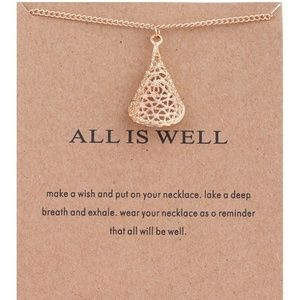 Inspirational All is Well Cloak Necklace NEW